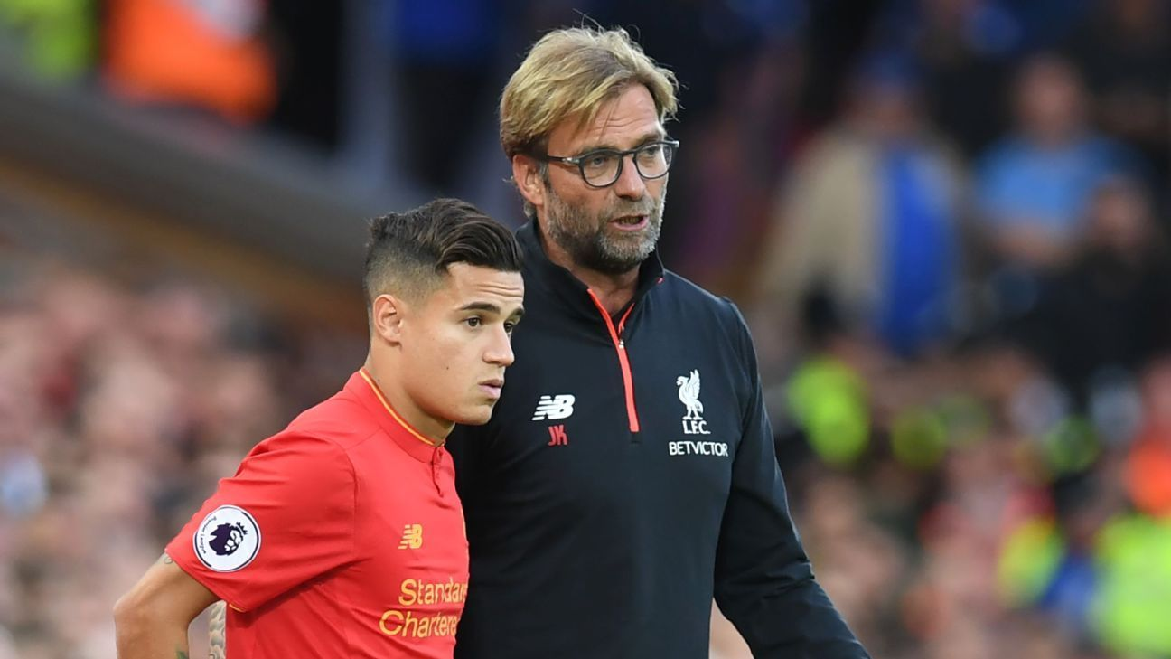 ca0c6f21cc4 Barcelona links to Phillippe Coutinho don t worry Liverpool s Jurgen Klopp