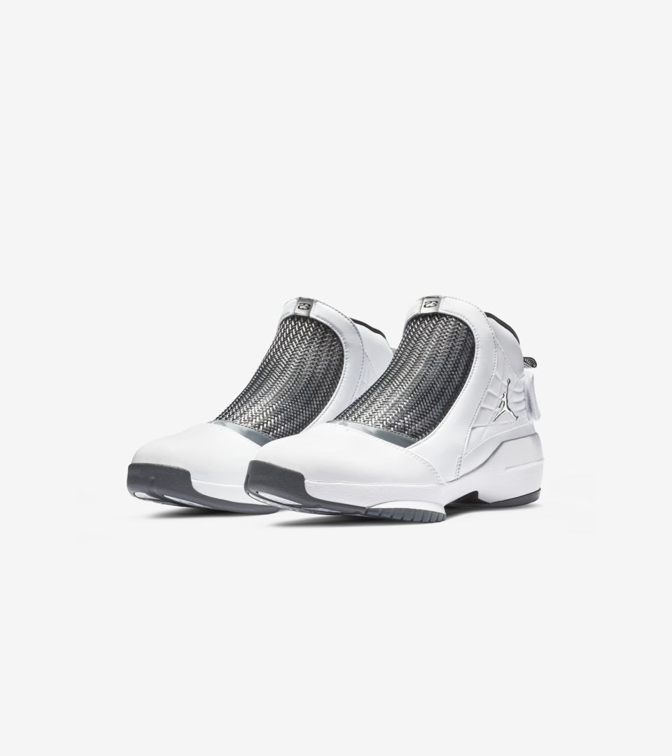 f3db4e3e03bf4 Air Jordan 19  Flint Grey   White   Chrome  Release Date