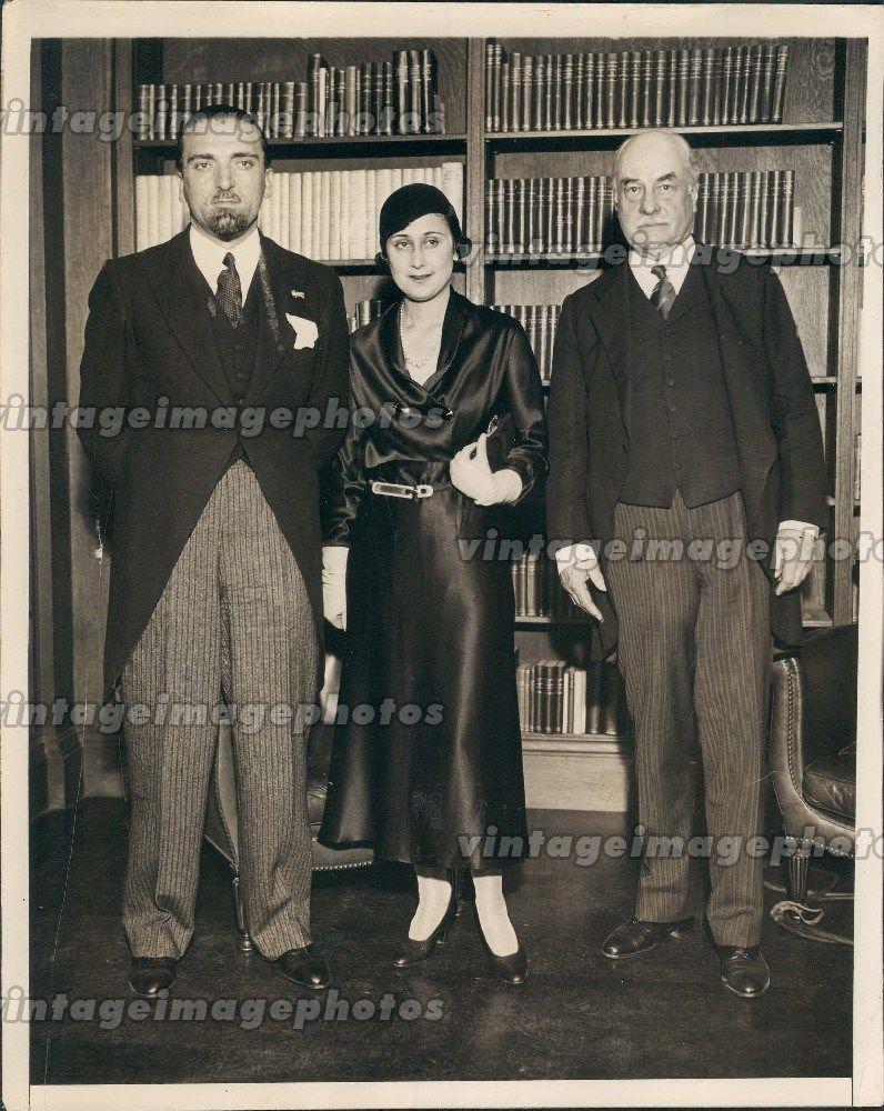 1931 Grandi Signora Doctor Butler President Columbia Library People Press Photo
