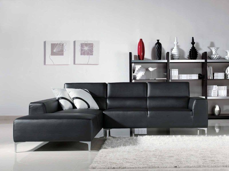 Black Leather Sofas For Small Spaces A Sign Of Elegance And Beauty Sectional Sofa L Shaped Leather Sofa Modern Sofa Living Room