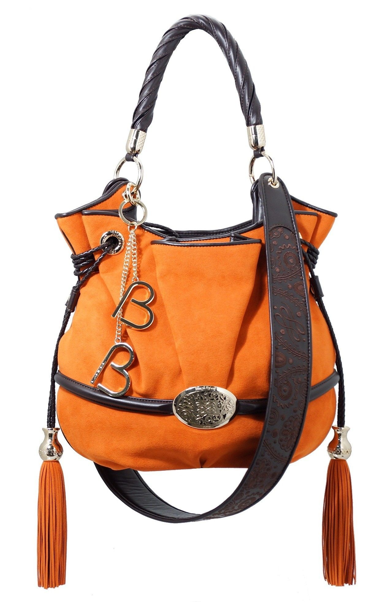 Sac A Main Bleu Lancel : Sac ? main lancel brigitte bardot cuir mat orange
