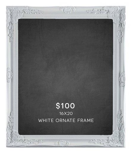 16x20 Chalkboard with Ornate White Frame - Free Shipping! by HooverStationery on Etsy https://www.etsy.com/listing/230779731/16x20-chalkboard-with-ornate-white-frame