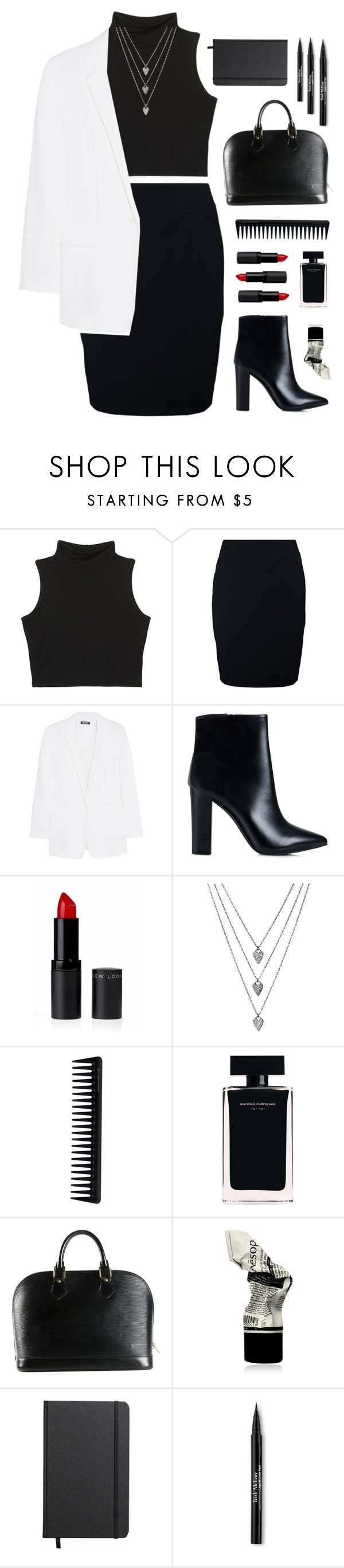 """boss"" by metda ❤ liked on Polyvore featuring Sir Oliver, DKNY, Nly Shoes, GHD, Narciso Rodriguez, Louis Vuitton, Aesop, Shinola, Trish McEvoy and WorkWear"