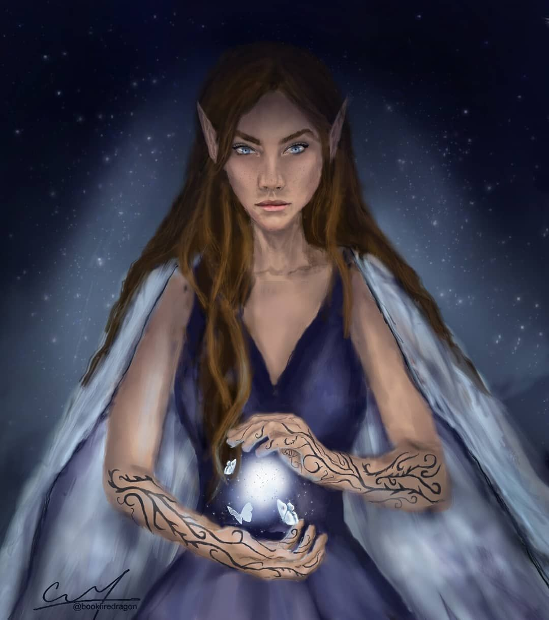 Feyre Archeron High Lady Of The Night Court From The Acotar