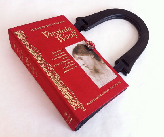 Virginia Woolf Recycled Book Purse, Mrs Dalloway