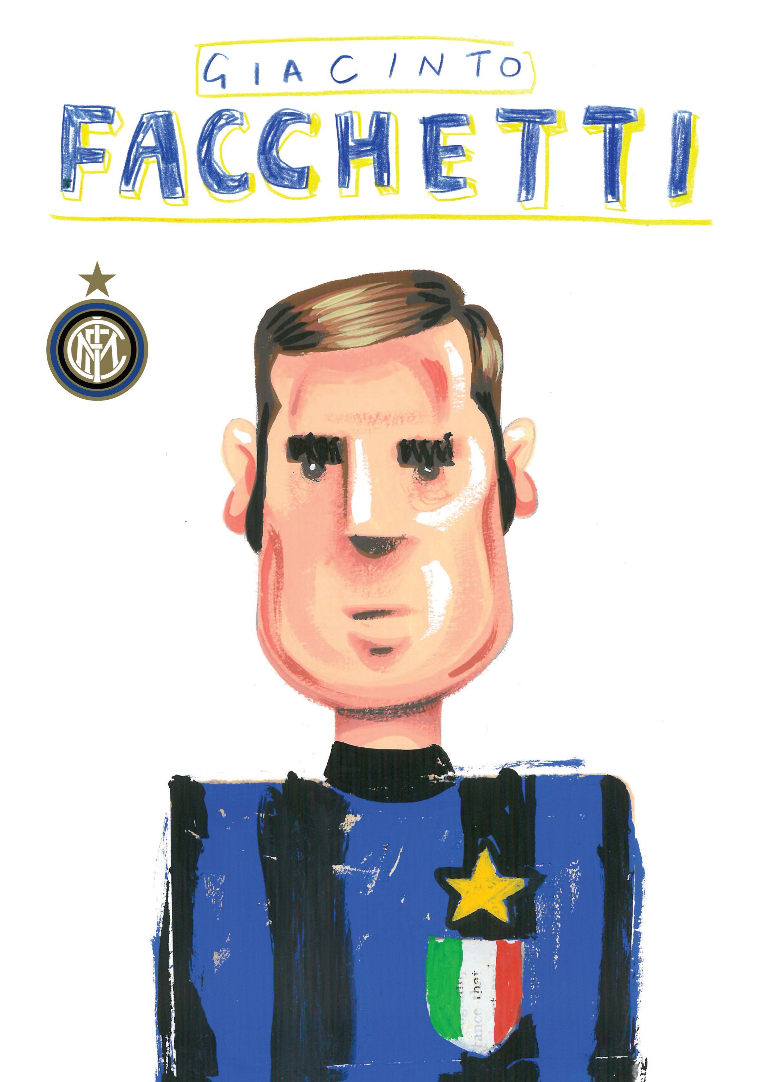 Giacinto Facchetti Inter Milan Football Calcio Peter Willis