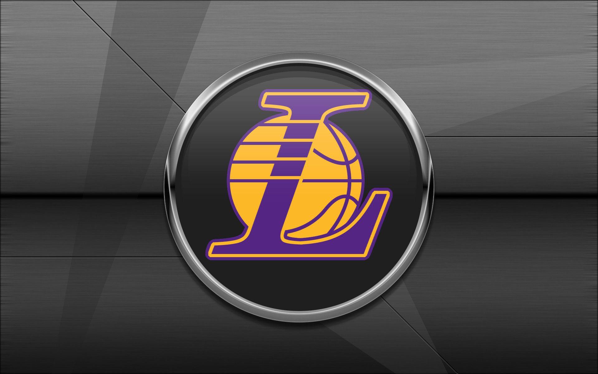 Los Angeles Lakers Grey Hd Background Desktop Wallpapers Widescreen Lakers Logo Logo Background Lakers Wallpaper