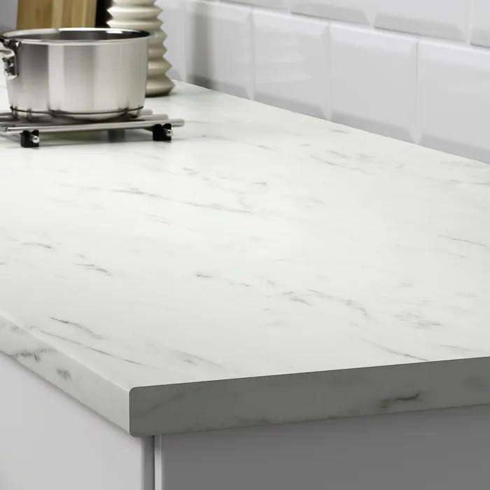Ekbacken Plan De Travail Blanc Marbre Stratifie 186x2 Ikea Plan De Travail Cuisine Cuisine Stratifie Plans De Travail Blancs