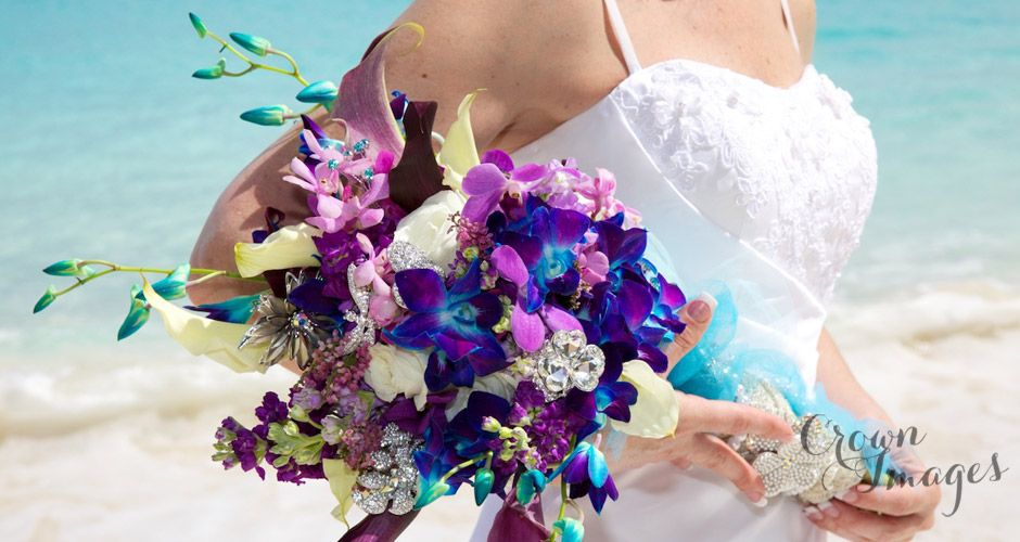 passion flower bouquet | St John Wedding Flowers | wedding flowers ...