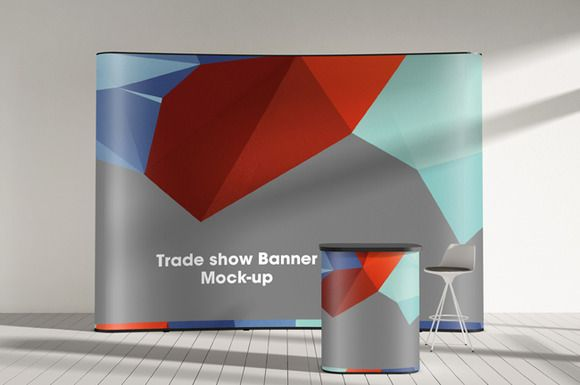 Trade Show Display Booth Mock Up Vol Trade Show Display Print Templates Tradeshow Banner