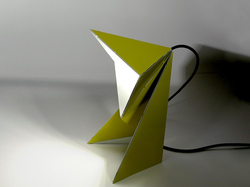 Origami Folding Lamp By Mirco Kirsch A Single Stainless Steel