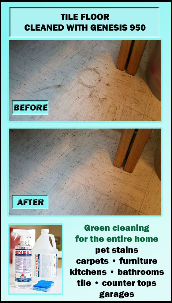 Dorm Room Tile Floor Cleaned After An Entire School Year With Genesis 950 Remove Pet Stains Cleaning Tile Floors Pet Stains