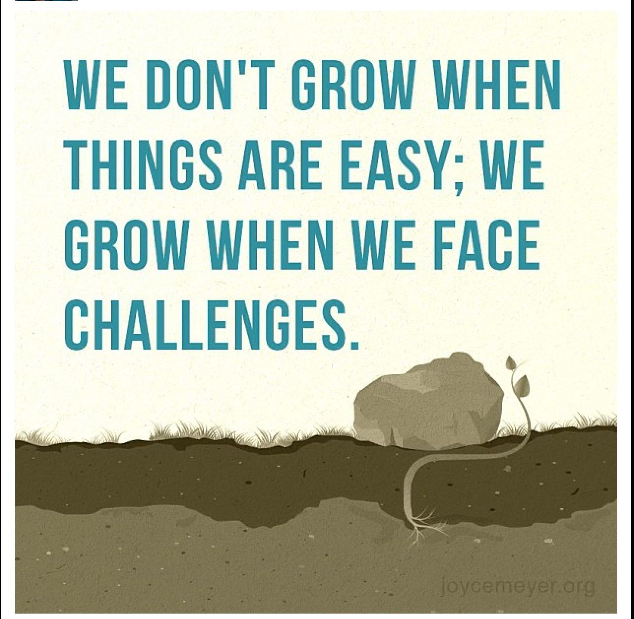 Quotes About Challenges We Don't Grow When Things Are Easy We Grow When We Face