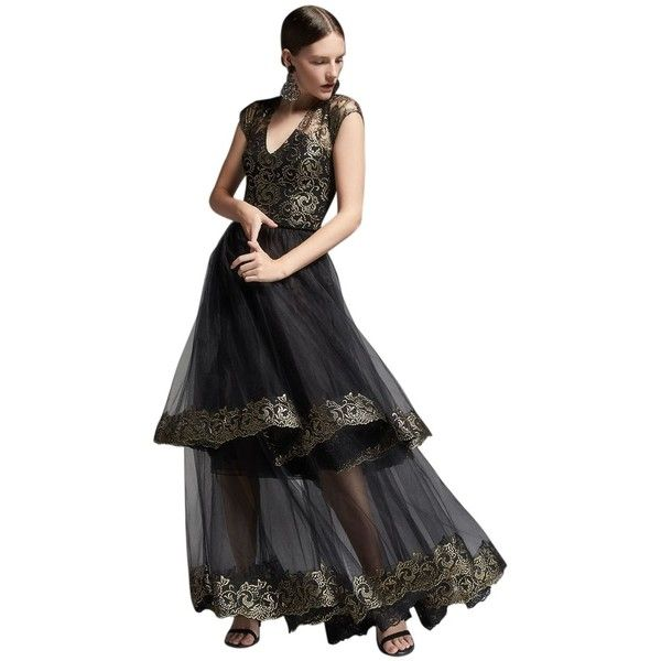 Pre-owned Sachin + Babi & Bouquet Tiered Tulle Organza Skirt ($289) ❤ liked on Polyvore featuring skirts, black, black metallic skirt, tiered tulle skirt, black tiered skirt, wet look skirt and black tulle skirt