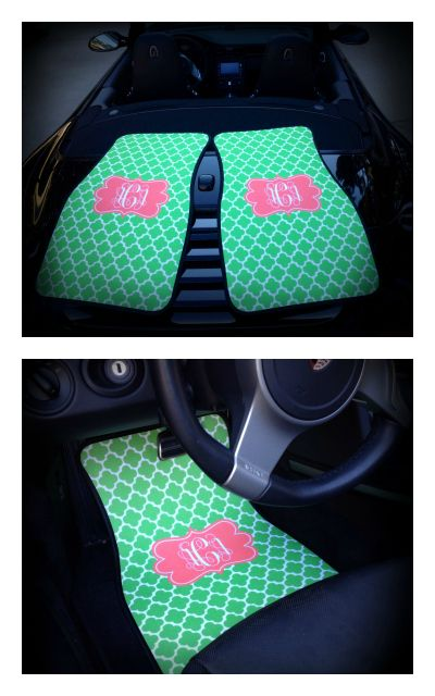 Monogrammed Floor Mats >> Monogrammed / Personalized Car Mats on Etsy $75.00 www.sassysoutherngals.etsy.com | Preppy car ...