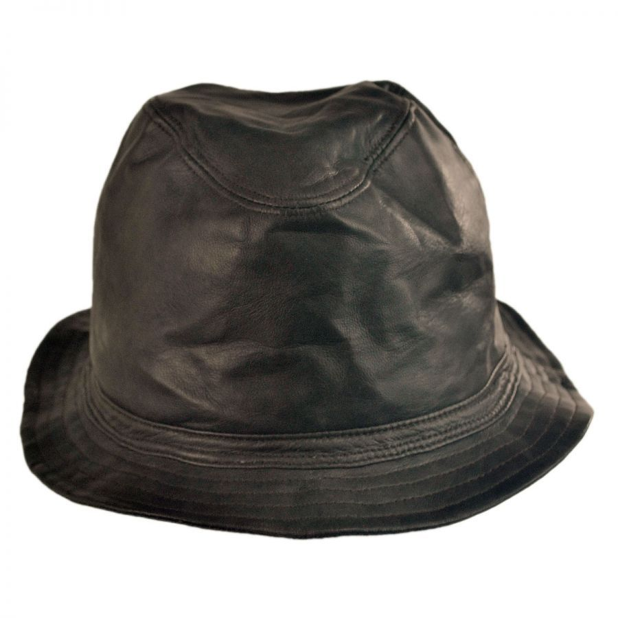 Bailey Brown Mahlon Leather Bucket Hat - Village Hats  150  32c229052be