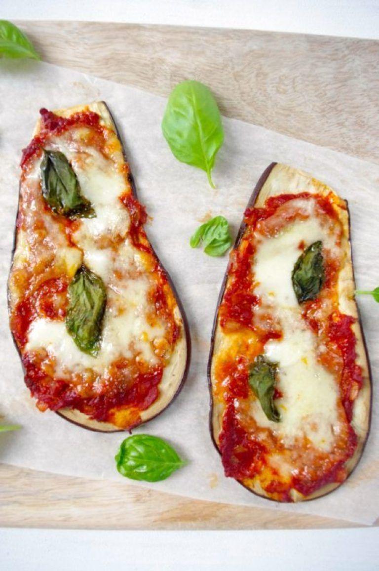 Koolhydraatarme aubergine pizza | Foodblog Zout en Peper