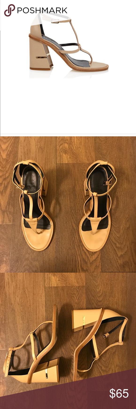 cda265a63058 Tibi Chloe Sandal in Nude 💕 Tibi block sandals in nude