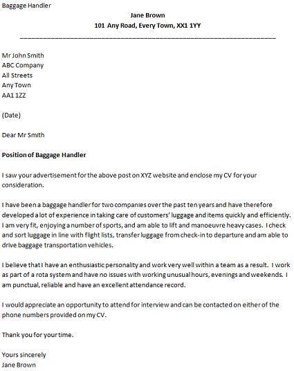 let know you need more help with writing your covering letter - baggage handler resume