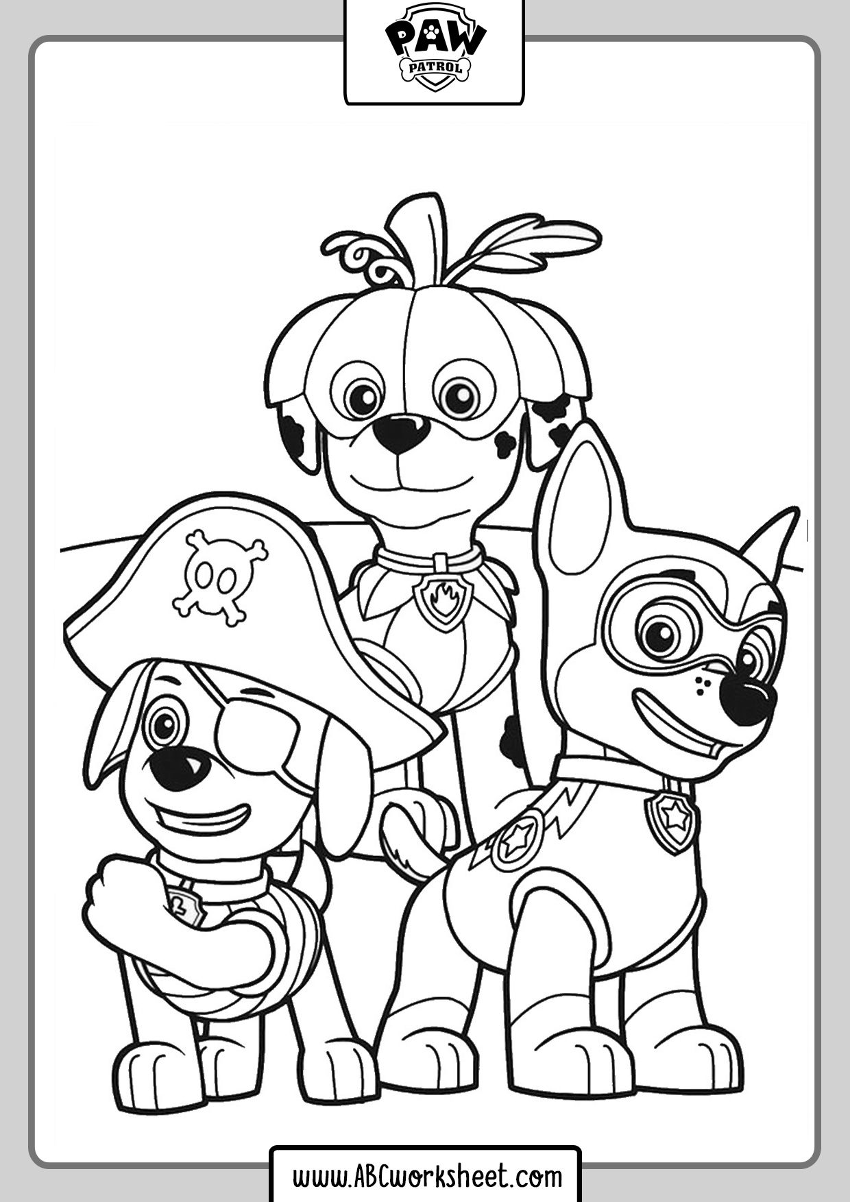 Paw Patrol Coloring Pages Abc Worksheet Paw Patrol Coloring Paw Patrol Coloring Pages Abc Coloring Pages [ 1754 x 1240 Pixel ]