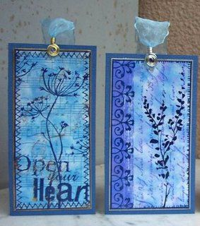 Hand stamped bookmarks
