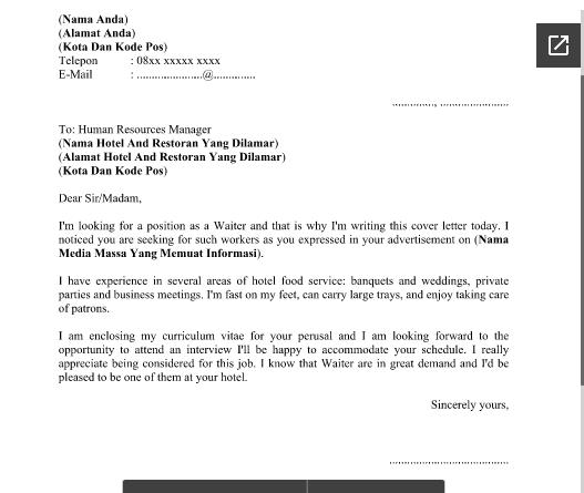 Contoh Surat Lamaran Kerja Bahasa Inggris Dan Curriculum Vitae Cv Yang Menarik Dan Kreatif Http Contohsuratlamarankerjajaka Inggris Human Resources Bahasa