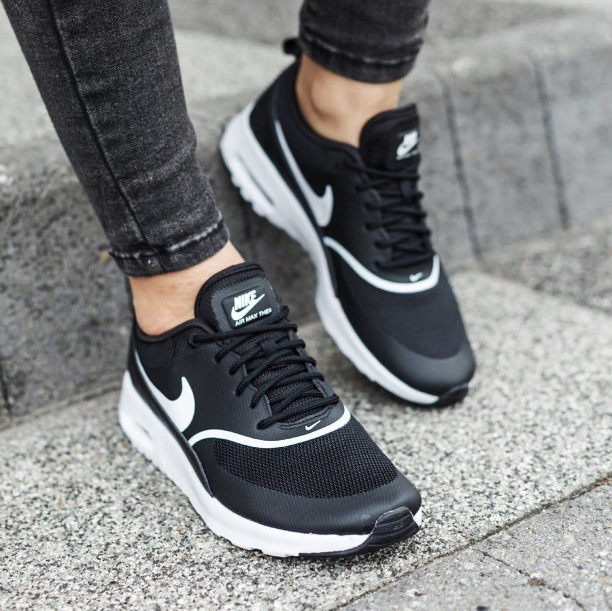 Women S Nike Air Max Thea Black Sneakers Nike Air Max Thea Black Nike Air Max Nike Air Max Thea Outfit