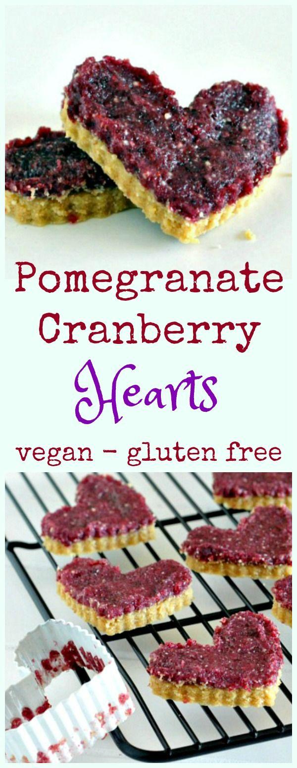 Pomegranate Cranberry Hearts @spabettie #vegan #valentines #glutenfree
