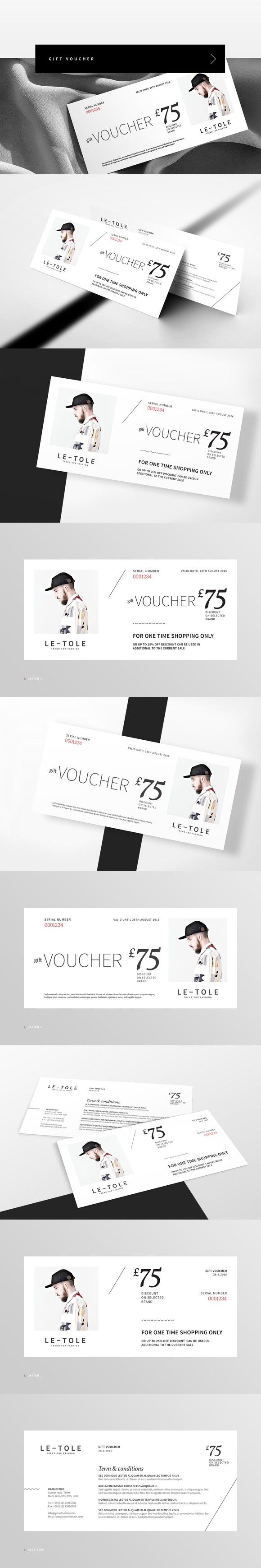 fashion t voucher creative card templates pinterest