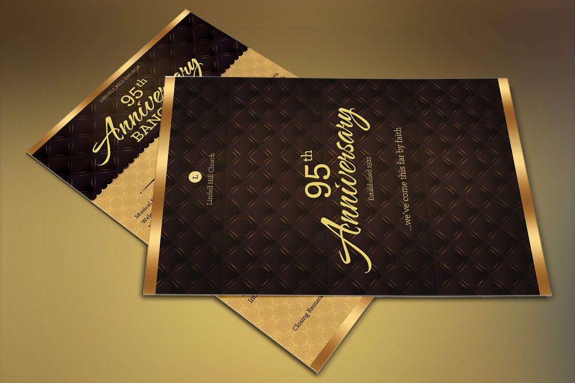 Church Anniversary One Sheet Program Publisher Template | Flyer ...