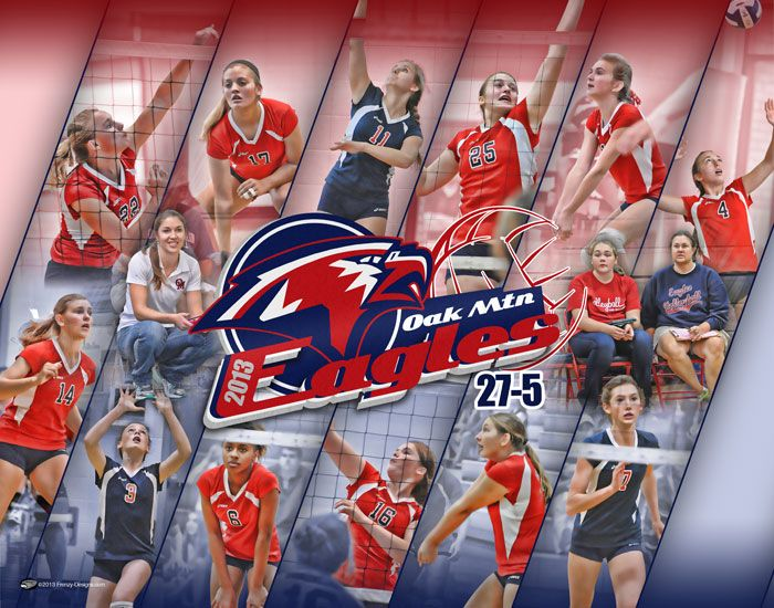 Custom Volleyball Collage Poster Oak Mountain Frenzy Designs Volleyball Team Volleyball Posters Team Poster Ideas