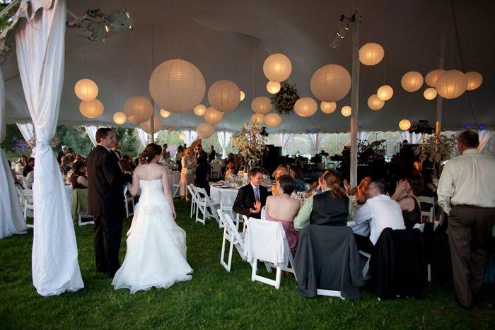 Weddings & white paper lanterns and white draping....classic...mmmmmmmmm ...
