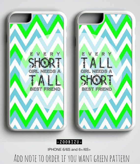 801ab3e64c Best Friends iPhone Cases with short tall quote and chevron design. This is  hard plastic phone case provides lightweight protection for your phone and  looks ...