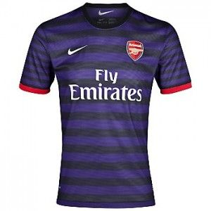 0dc2242d00d Arsenal Jersey 12 13 Away Soccer Jersey Nike Purple Black Stripe Soccer  Shirt  For Kids