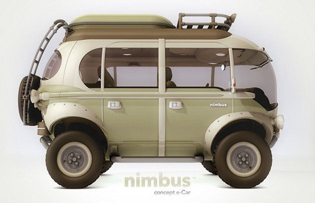 The Nimbus by Eduardo Galvanis takes cues from the original VW bus, but then also bakes in some Baja bug and Lunar lander to make a truly go-anywhere family vehicle.