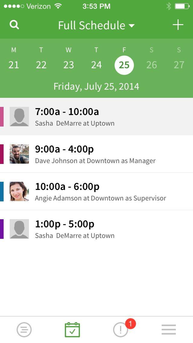 Scheduling Software App Hourly Employees Scheduling App