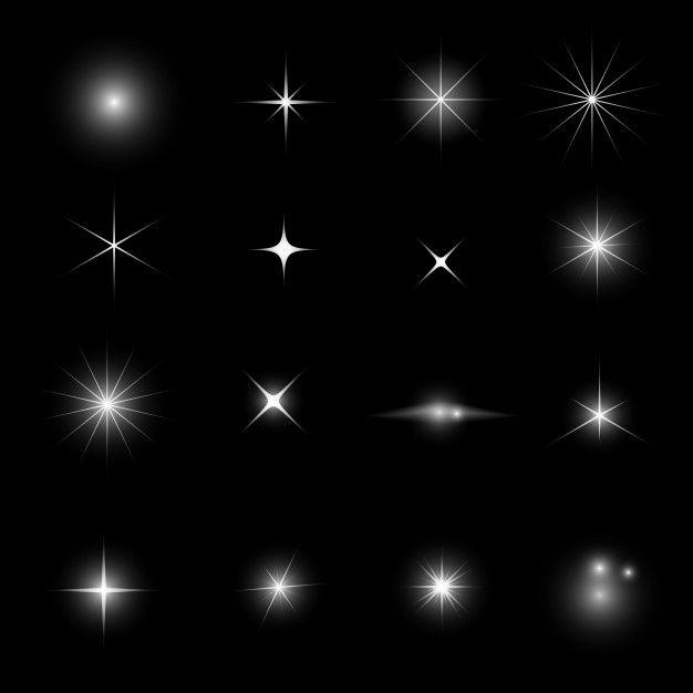 Brilho De Luz Da Estrela E Conjunto De Efeitos De Brilho Star Overlays Graphic Design Photoshop Sparkle Png