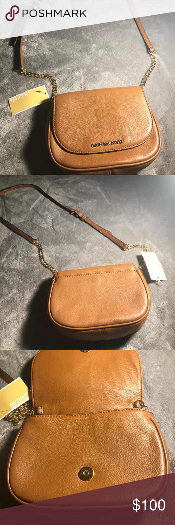9f89bd24835e NWT Michael Kors Crossbody Purse walnut leather Brand new authentic Michael  Kors Crossbody Walnut color leather