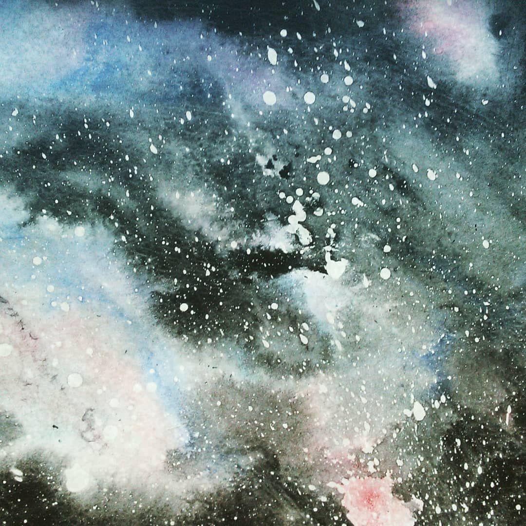 фото космоса акварелью рыбка