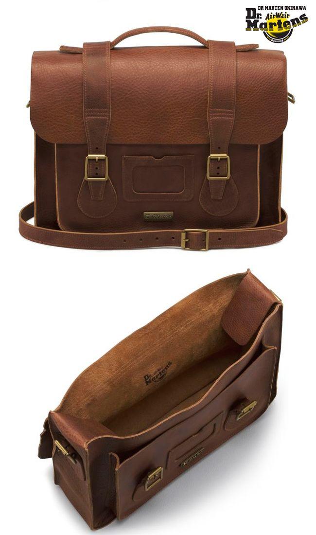 4ed9569136 Frankie s Bag. Dr. Martens LEATHER SATCHEL TAN …