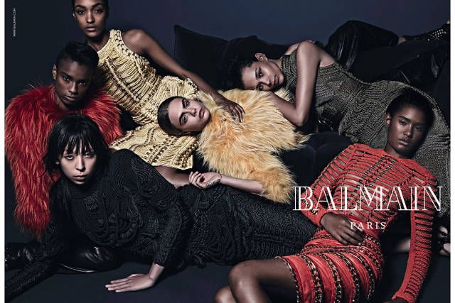 Balmain Fall/Winter 2014/2015. See more stellar ad campaigns from Fall 2014 here!