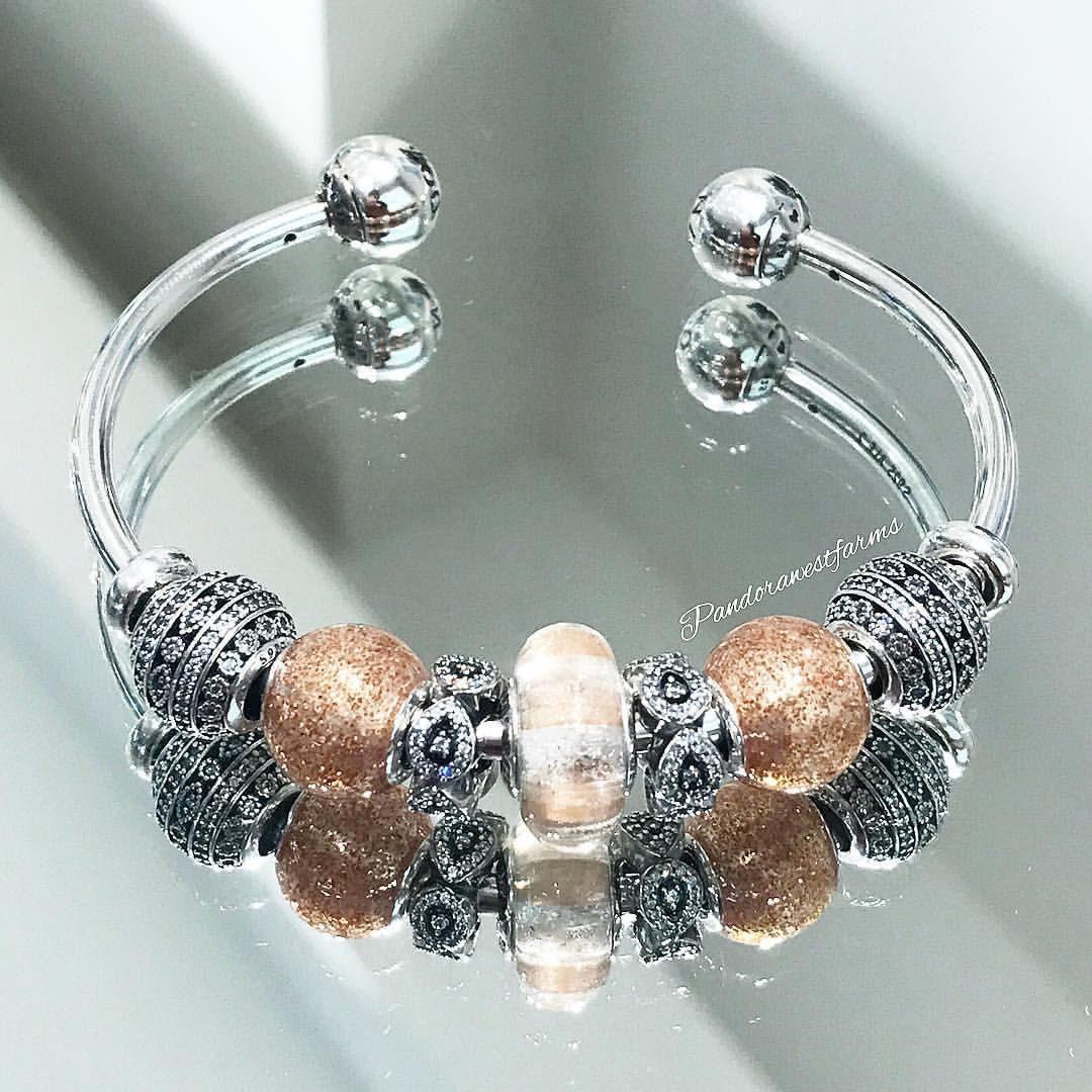 bracelet jonc ouvert pandora femme