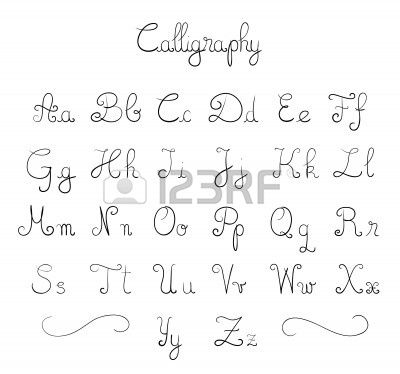Stock Vector Cool Handwriting Fonts Calligraphy Fonts