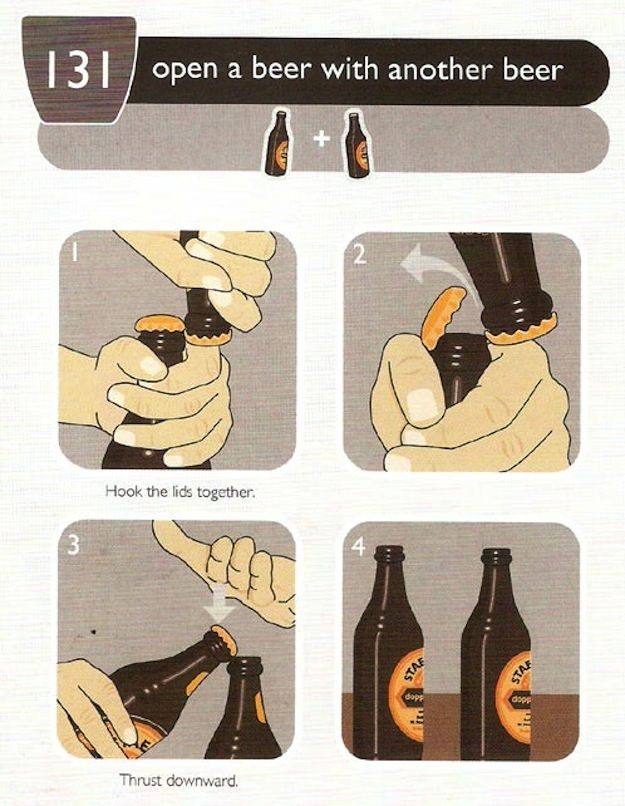 How To Open Your Beer With ANOTHER BEER And Other Alcohol Hacks - 30 brilliant life hacks