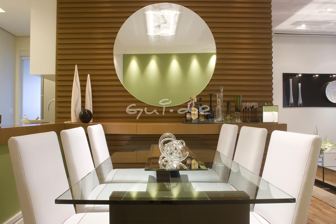 Espelho Redondo Para Sala De Jantar PLACES + DECORACION + INTERIORES Sala de jantar, Espelho  # Decoração De Sala De Jantar Com Espelho Redondo