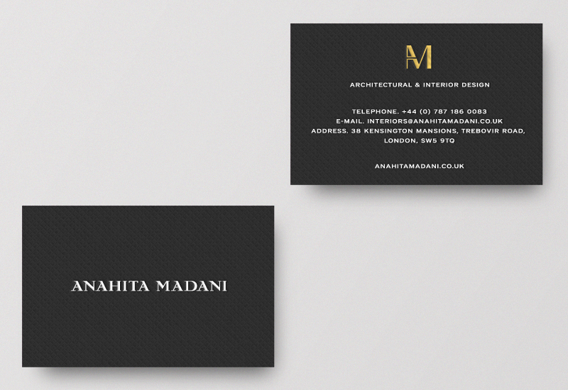 Brand identity and business cards for interior design ...