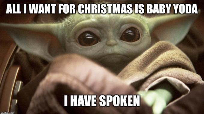 Funny Baby Yoda Christmas Memes Memeologist Com Babyyodachristmas Babyyoda Yoda Babyyodamemes Yodamemes Starwarsmemes Yoda Funny Funny Babies Yoda Meme