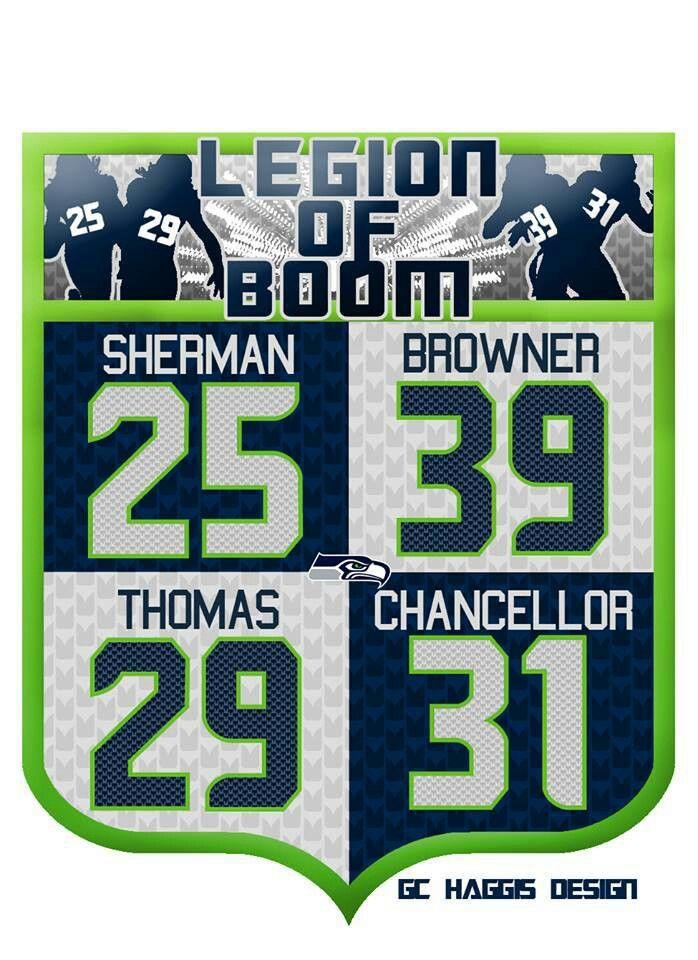Seattle Seahawks Legion of Boom... Unstoppable!  Go Hawks!