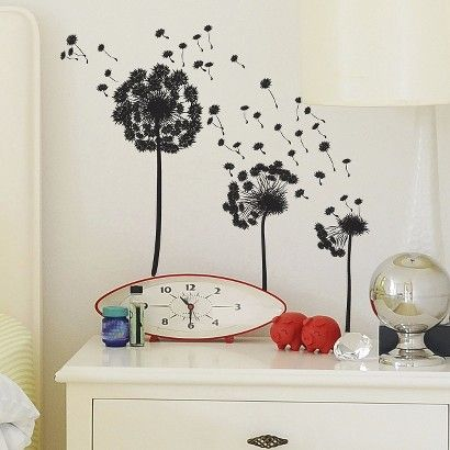 Target wall decal make a wish dandelion put on big wall in bathroom