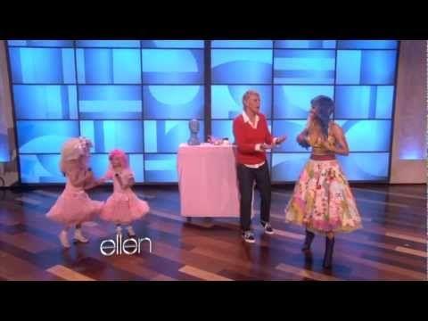 Sophia Grace & Rosie Meet Nicki Minaj  and sing Super Bass for her  I love these mini pop stars